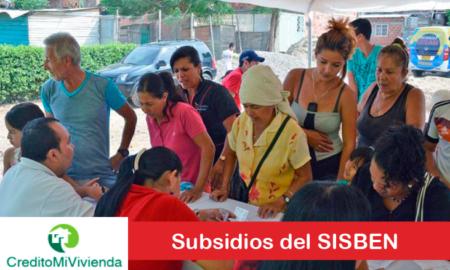 Subsidios del SISBÉN
